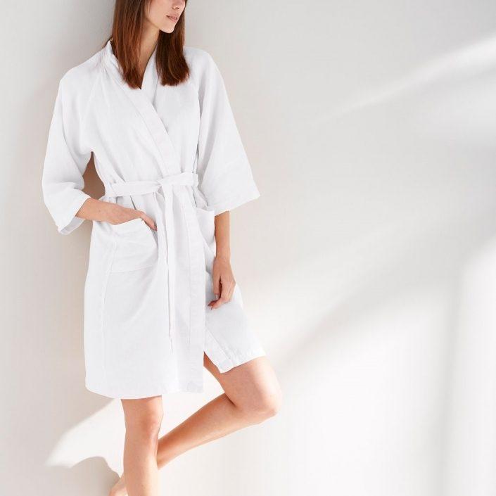 Linen Bamboo Robe Lightweight Robe