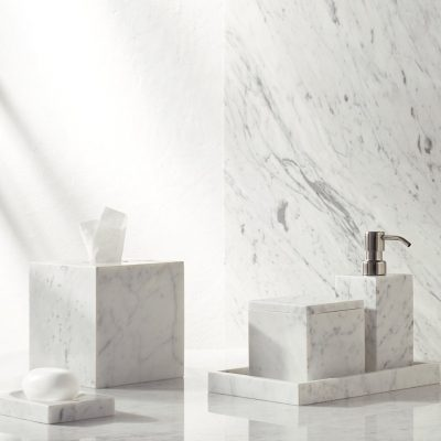 Marmol Marble Bath Accessories Collection