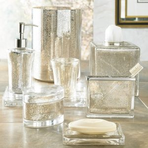 Vizcaya Mercury Glass Bath Accessories Collection