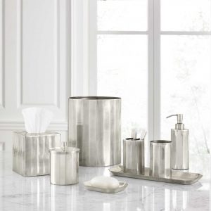 Nomad Matte Stainless Steel Bath Accessories Collection