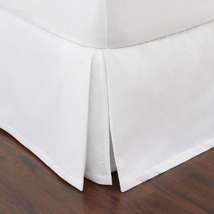 Diamond Pique Bed Skirt by Matouk