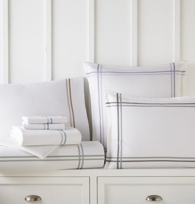 Duo Striped Sateen Sheeting Collection by Peacock Alley
