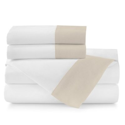 Mandalay Linen Cuff Sheeting Collection by Peacock Alley