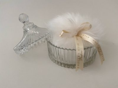 Vanity Crystal Lidded Dish for Lambswool Powder Puff