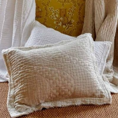 Hudson Valley Stonewashed Linen Coverlet, Shams