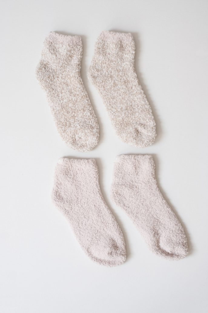 Cozychic 2 Pair Tennis Sock Set by Barefoot Dreams