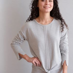 Cozychic Ultra Lite Tie Front Top by Barefoot Dreams