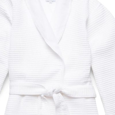 Terry Lined Cotton Waffle Bath Robe