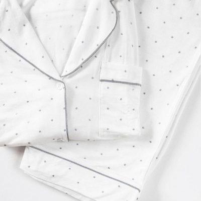 Sterling Dot Long Pajama Set by Eberjey