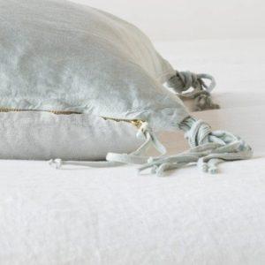 Taline Silk Linen Pillow by Bella Notte