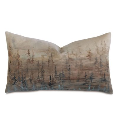 Tree Lines Hand Painted Pillow