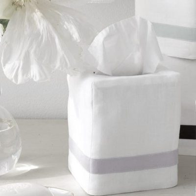 Lowell Tissue Box Cover by Matouk