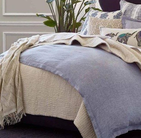Vivada Sand Woven Quilt by John Robshaw