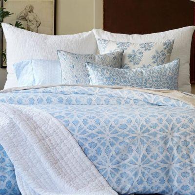 Woven White King Euro Decorative Pillow by John Robshaw