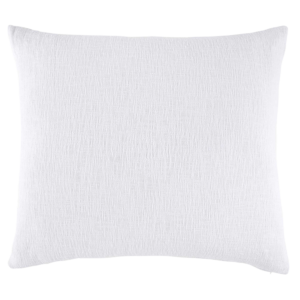 Woven White King Euro Decorative Pillow by John Robshaw
