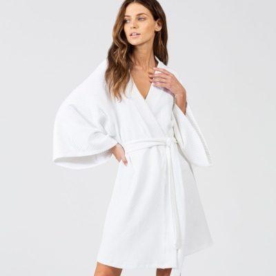 Zen Short Spa Robe by Eberjey