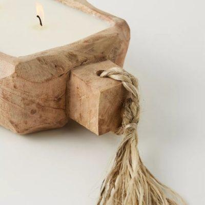 Driftwood Candle Tobacco Bark