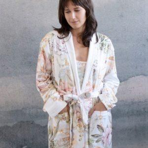 Boheme Floral Print Long Robe