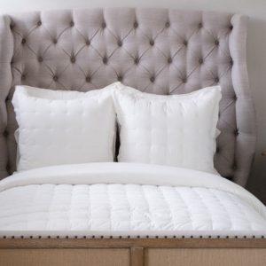 Comfy Cotton Dove White Puff, Shams by Pine Cone Hill