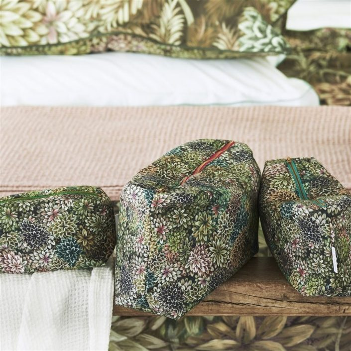 Madhya Moss Toiletry Bag Collection by Designers Guild