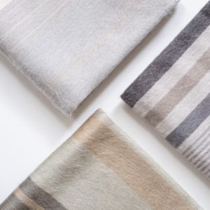Brushed Striped Alpaca Throw Collection