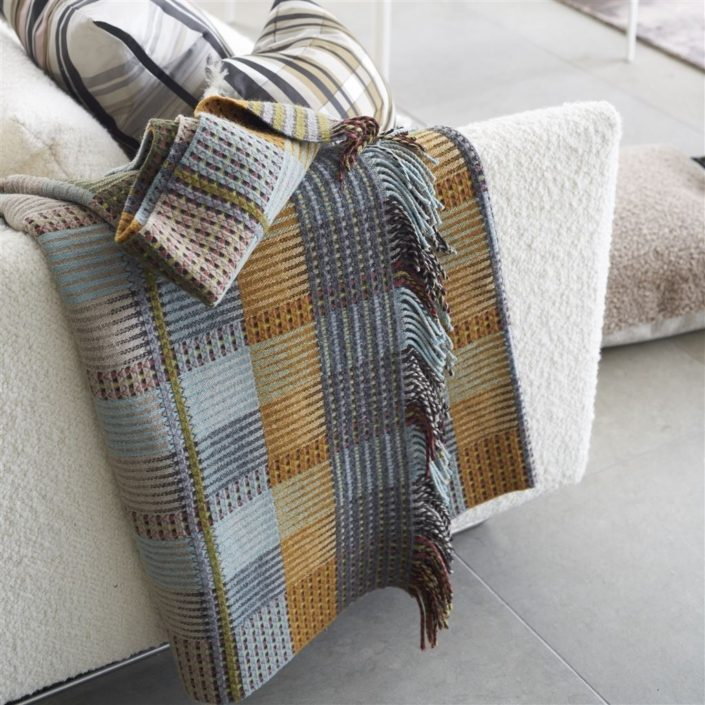 Tasara Ochre Woven Throw by Designers Guild