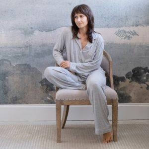 Gisele Heathered Long PJ Set by Eberjey